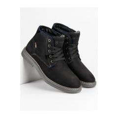 Pánske čierne členkové topánky MCKEYLOR - HAN19-14203B