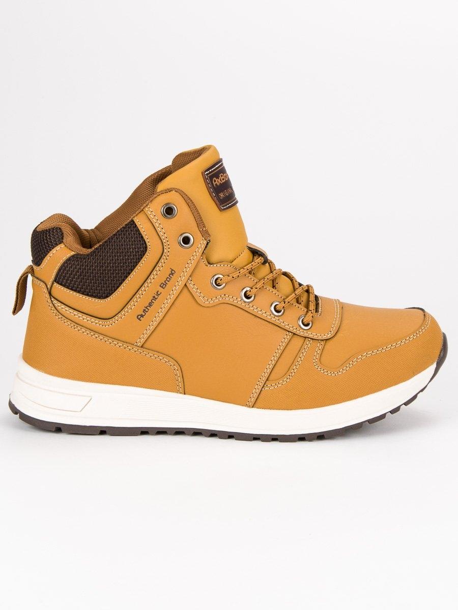 fdded62341 Pánske žlté členkové topánky - A8467-2Y