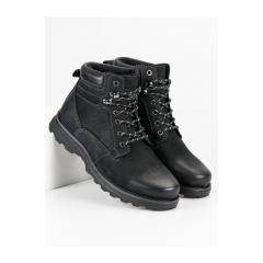 Pánske čierne členkové topánky  - BD15710-6B