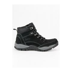 Pánske čierne kožené workery  - BD15673-5B