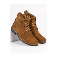 Pánske hnedé členkové topánky  - MODEL3C
