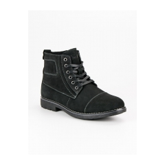 Pánske čierne členkové topánky  - MODEL3B