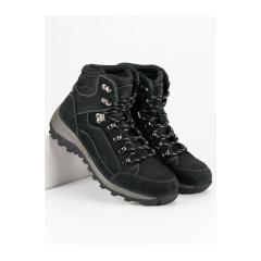 Pánske čierne trekingové topánky - MODEL42B