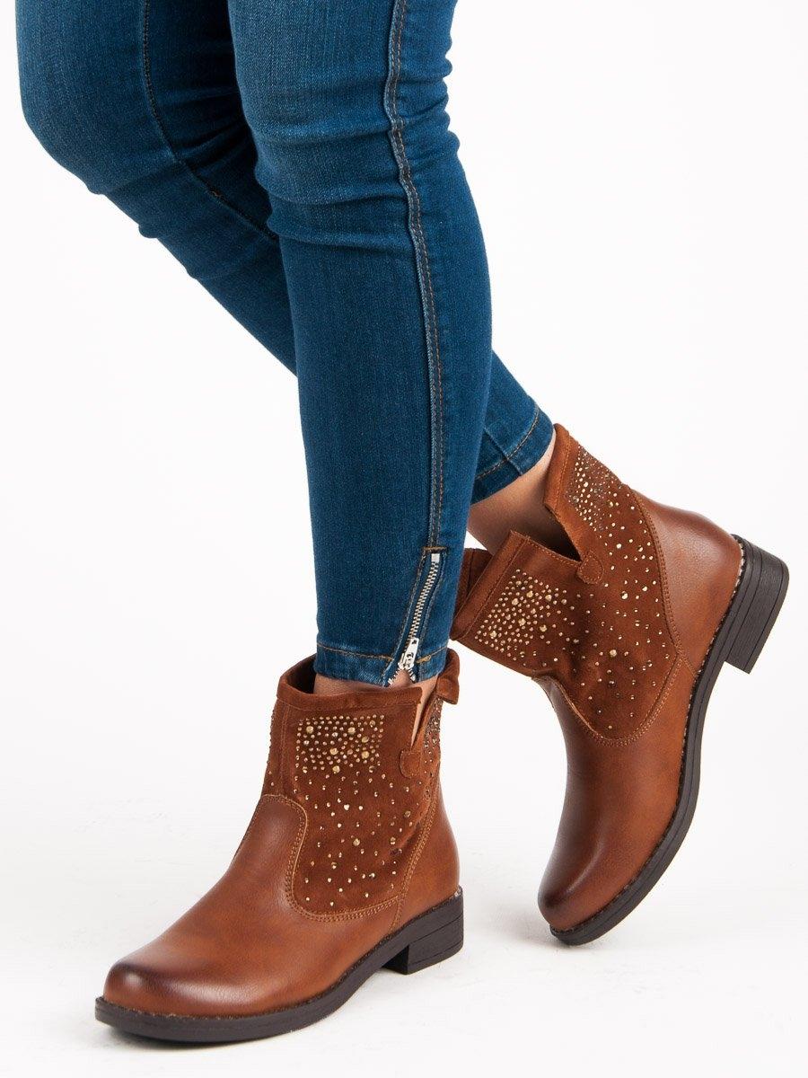 Dámske hnedé členkové topánky - A89160C  d862acaf8c7