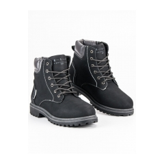 Pánske čierne workery  - B153155B
