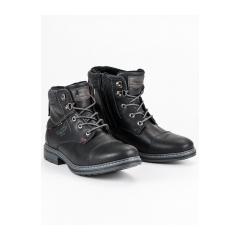 Pánske čierne členkové topánky  - 709153B