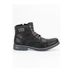 Pánske čierne členkové topánky  - 709154B