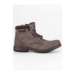 Pánske hnedé členkové topánky  - 709154T