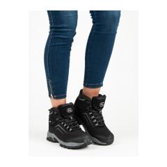 Dámske čierne trekingové topánky  - WT1805B