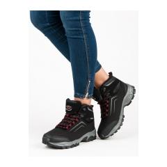 Dámske čierne trekingové topánky - WT1805B-R