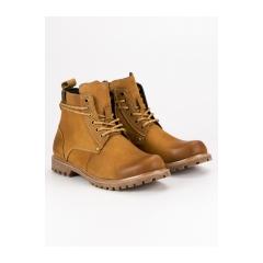Pánske hnedé kožené topánky  - SH19-1920C