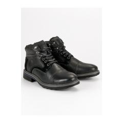 Pánske čierne členkové topánky  - SH19-1924B