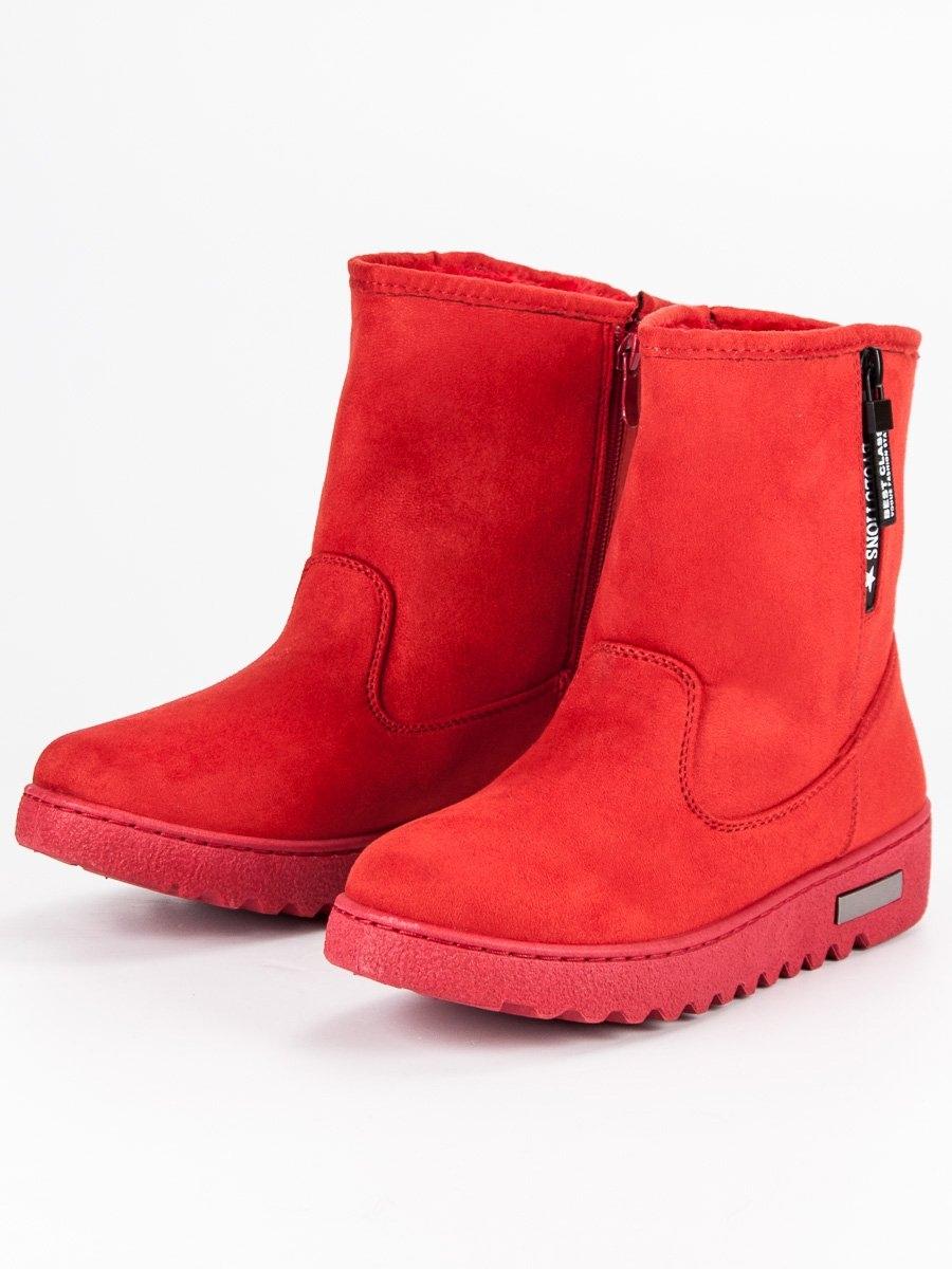 8c1c266bcfe1 Dámske červené snehule - ANN19-14401R