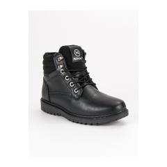 Pánske čierne zateplené členkové topánky  - ANN19-14405B