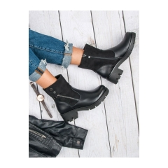 Dámske čierne členkové topánky  - DBT373/17B