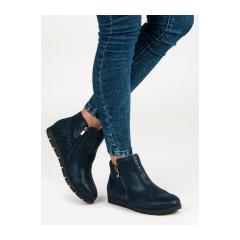 Dámske modré členkové topánky - DBT229/16N