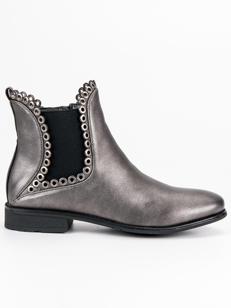 37b757a699 Dámske šedé členkové topánky - DBT456 18S