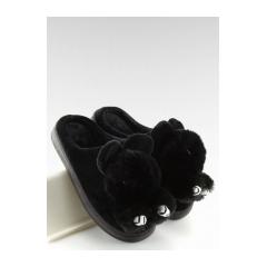 Dámske čierne šľapky - DD91
