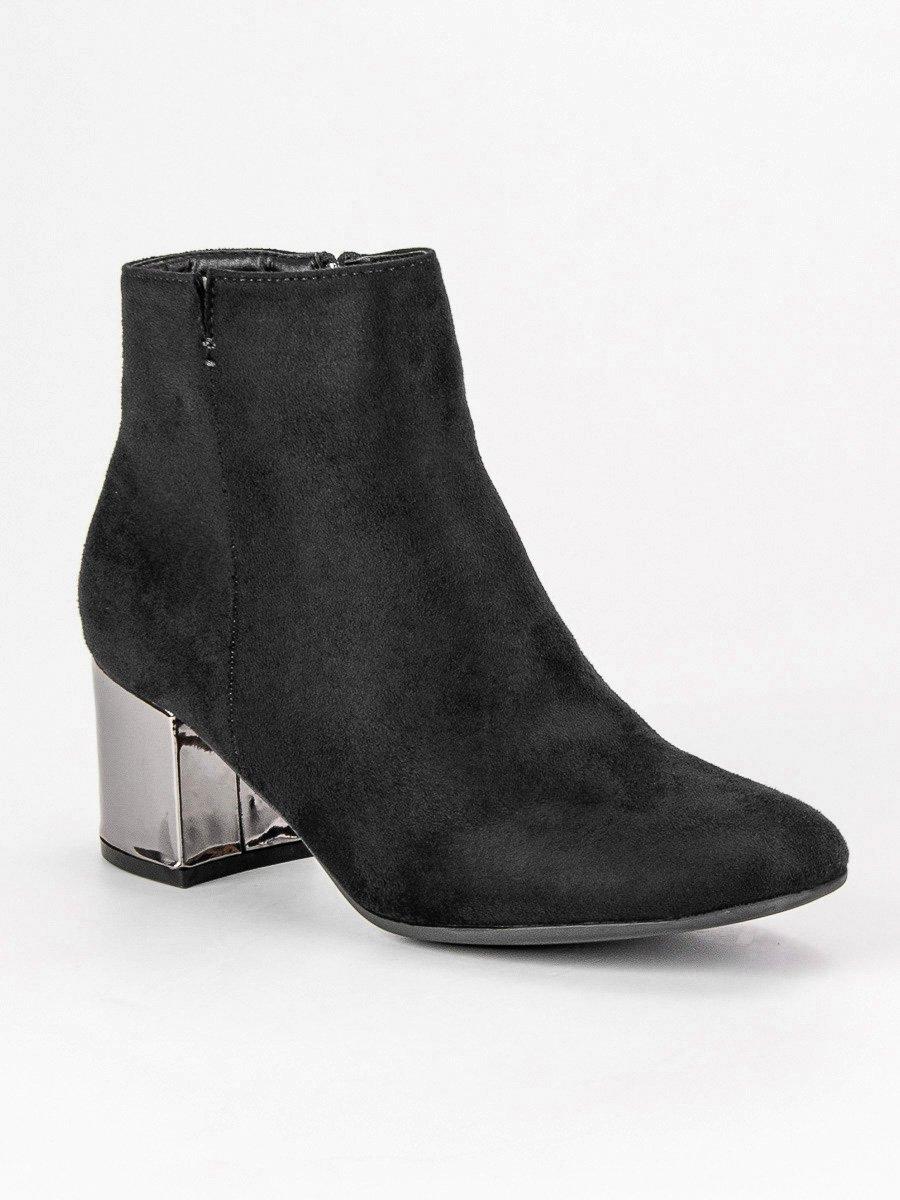 288ed8067b86 Dámske čierne členkové topánky - 20-331B