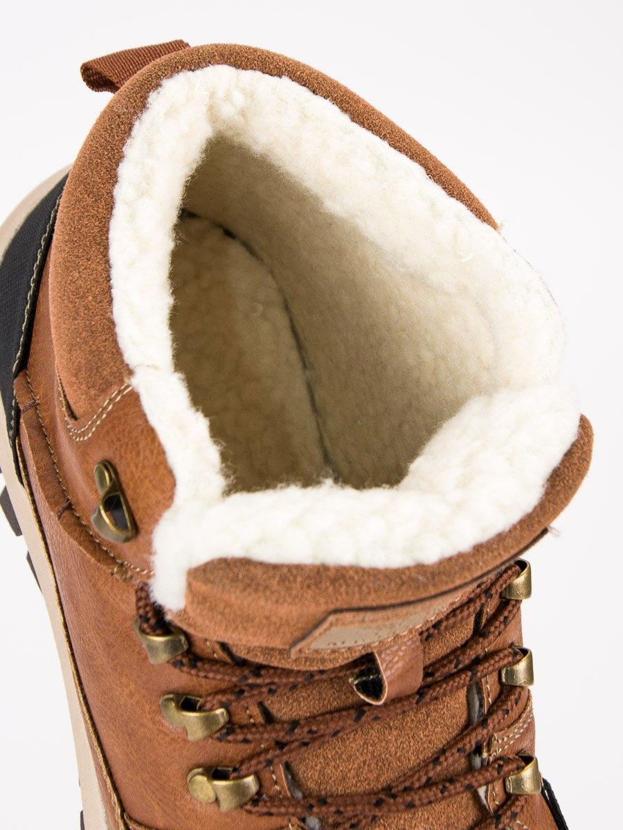 5239e252aebb Pánske hnedé zateplené členkové topánky - AM8438BR