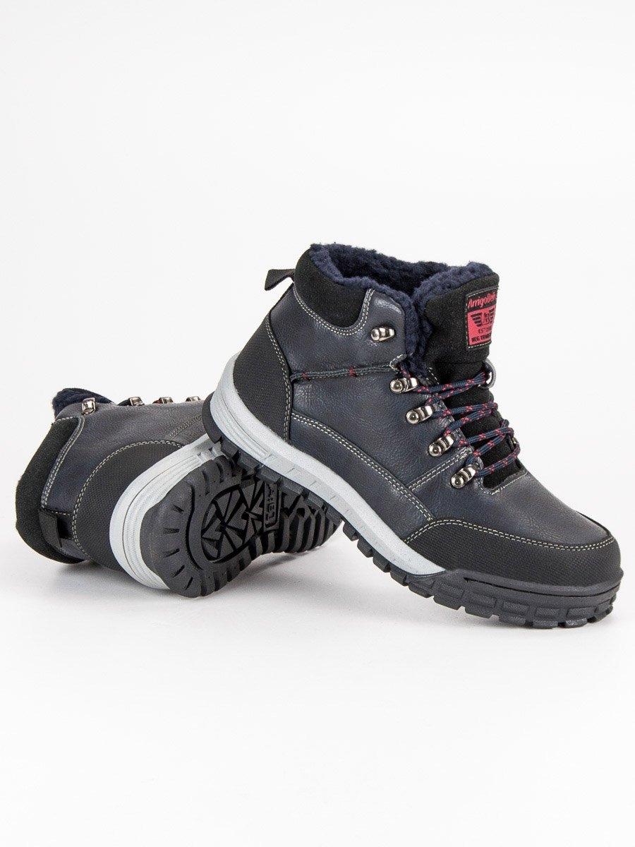 22e08ba5740f Pánske modré zateplené členkové topánky - AM8438N