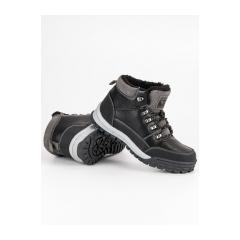 7f8dfe50587ac Pánske čierne zateplené členkové topánky - AM8438B