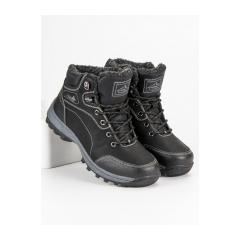 Pánske čierne členkové topánky  - AM8394B