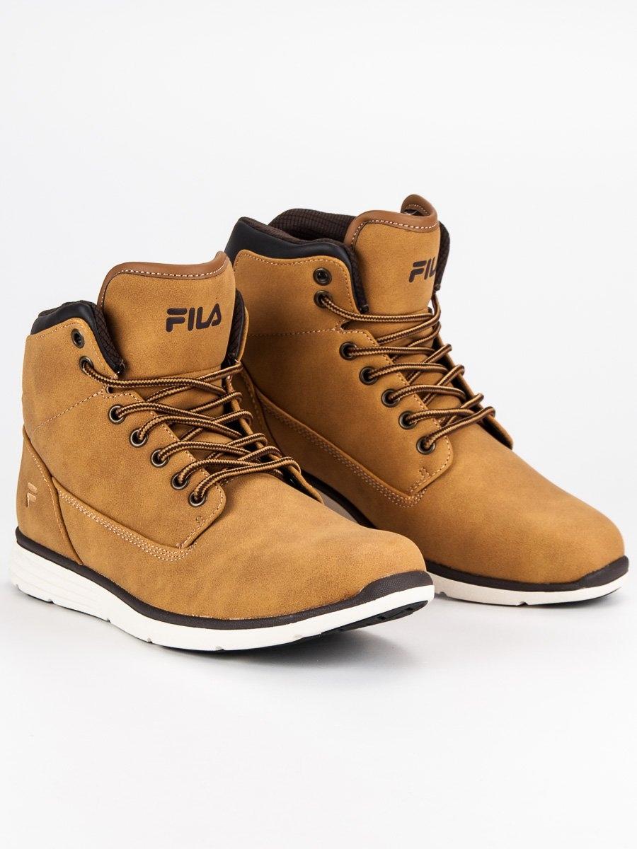 757aadf5fb2f Pánske hnedé členkové topánky FILA LANCE MID - 1010146CH