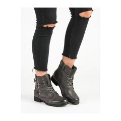 Dámske šedé členkové topánky  - 88051G