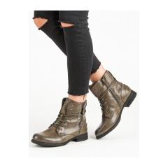 Dámske zelené členkové topánky  - 88051GR