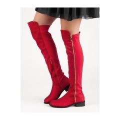 Dámske červené čižmy  - DA01R