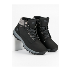 Pánske čierne členkové topánky  - REF19-9746B