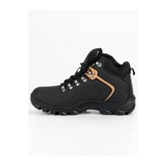 Pánske čierne členkové topánky  - REF19-9750B
