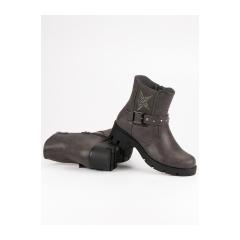 Dámske šedé členkové topánky na platforme  - 6316-2G