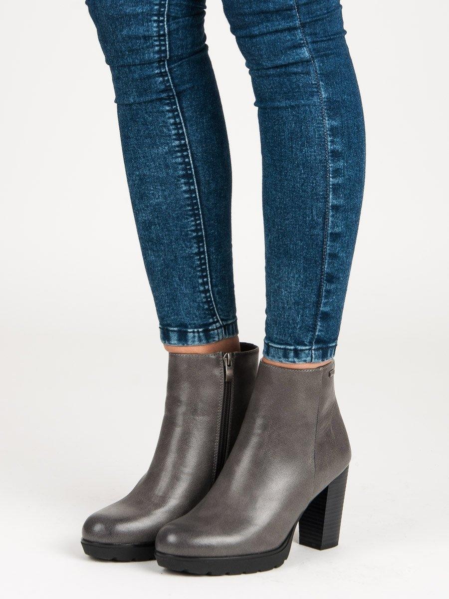 74cda4fd37 Dámske šedé členkové topánky - DBT347G