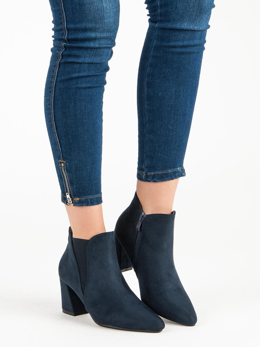 Dámske modré členkové topánky - 4826BL  3a2621b40dc