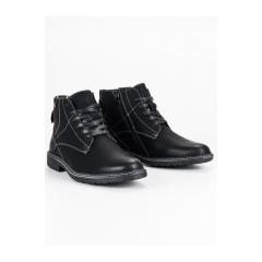 Pánske čierne členkové topánky - OCA19-2133B