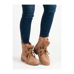 Dámske ružové členkové topánky   - 1119-PA-P