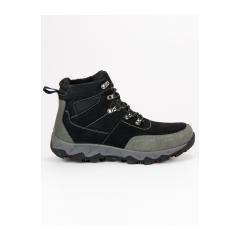 Pánske čierne trekingové topánky - BB161346-2B