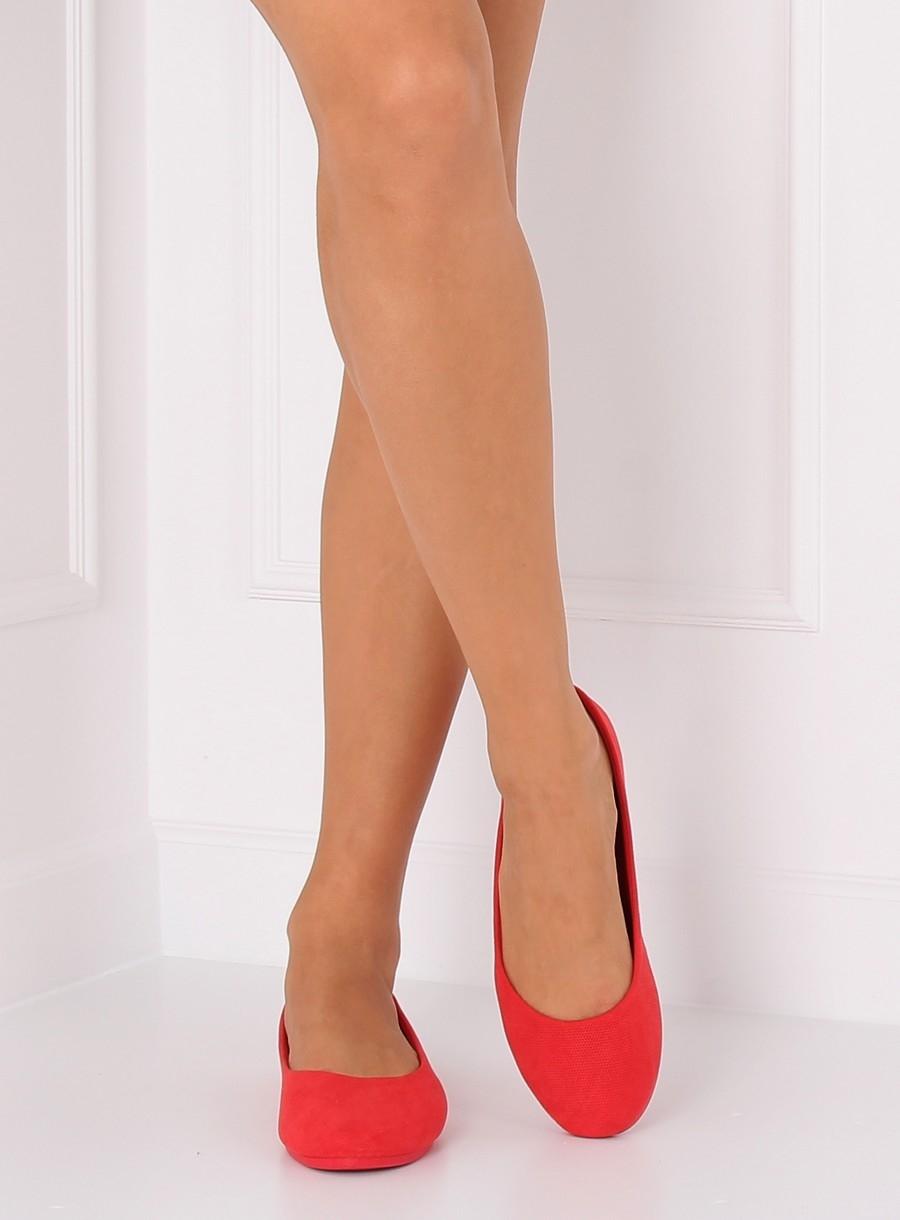 a6b28941f Dámske červené balerínky - JX1018 | dawien.sk