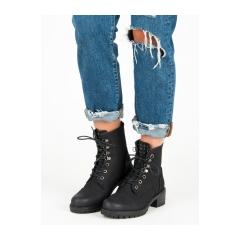 Dámske čierne workery  - HX19-16018B