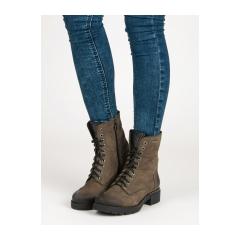 Dámske zelené členkové topánky  - 1264/5GR