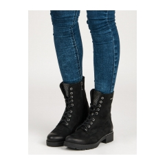 Dámske čierne workery  - 1264/5B