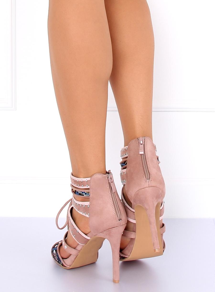 c0257da28946 Dámske ružové sandále gladiátorky - MT029