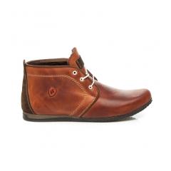 Pánske hnedé členkové topánky - 276BR/OC