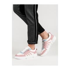 Dámske bielo ružové tenisky  - BL150P