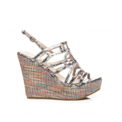 a38e9a483ec2 Dámske viacfarebné sandále na kline - 3555P
