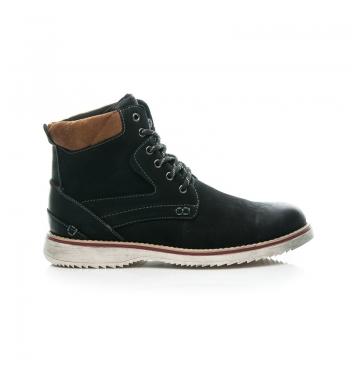 Pánske čierne členkové topánky - SB4581-2B /D1-L32