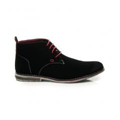 Pánske čierne členkové topánky - 1118B