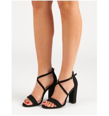 Dámske čierne sandále  - NC802B